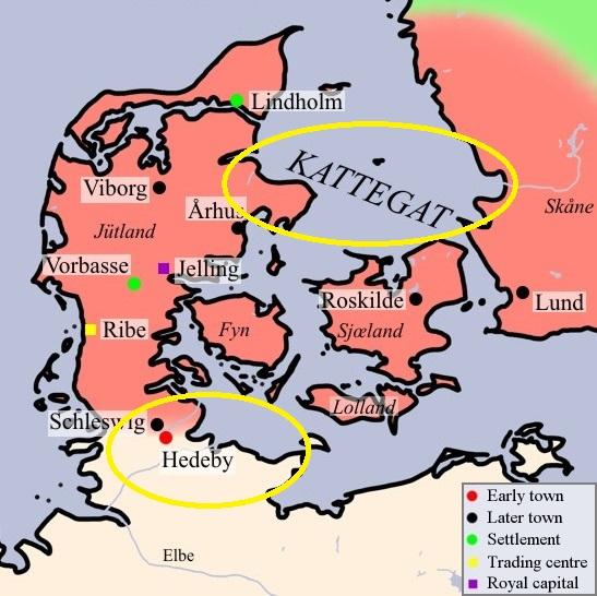 Foto dentro del texto de Vikingos. Trás los reinos de Dinamarca