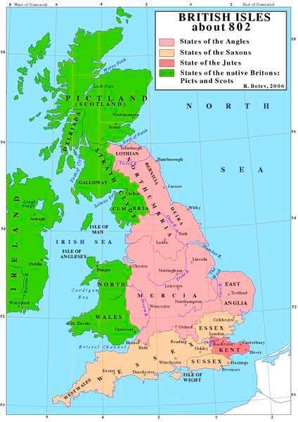 Vikingos 2. 1 Heptarquía inglesa (802)