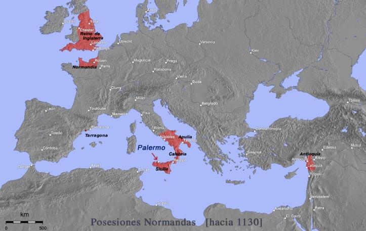 Normandos en su máxima extensión